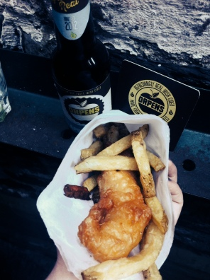 Orpens with fish and chips.. yum!