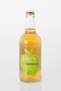 toby's cider bottle